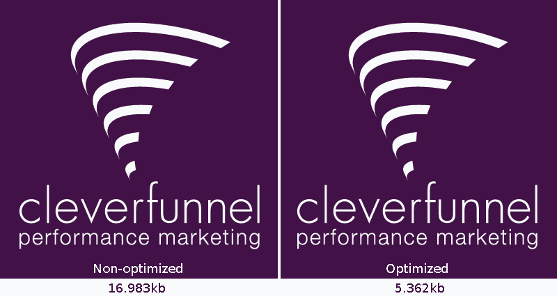 example image using file optimizer tool | Unlikely Marketing Tools: File Optimizer | CleverFunnel Digital Blog