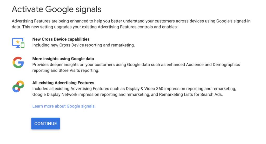 Active Google Signals